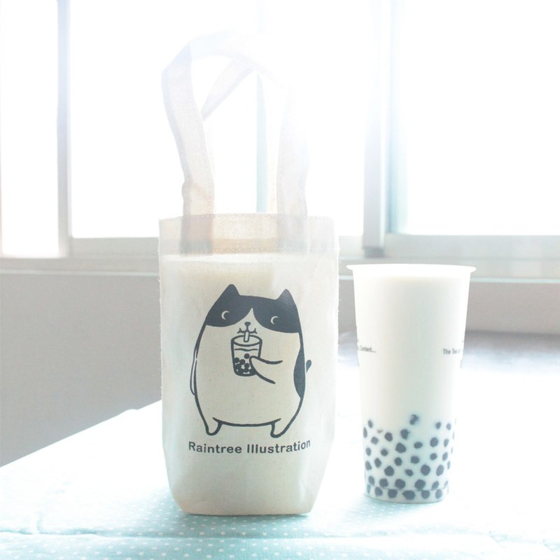Chubby cat love Jane milk canvas drink bag B