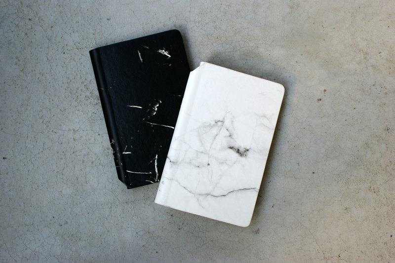 A5 white marble notebook
