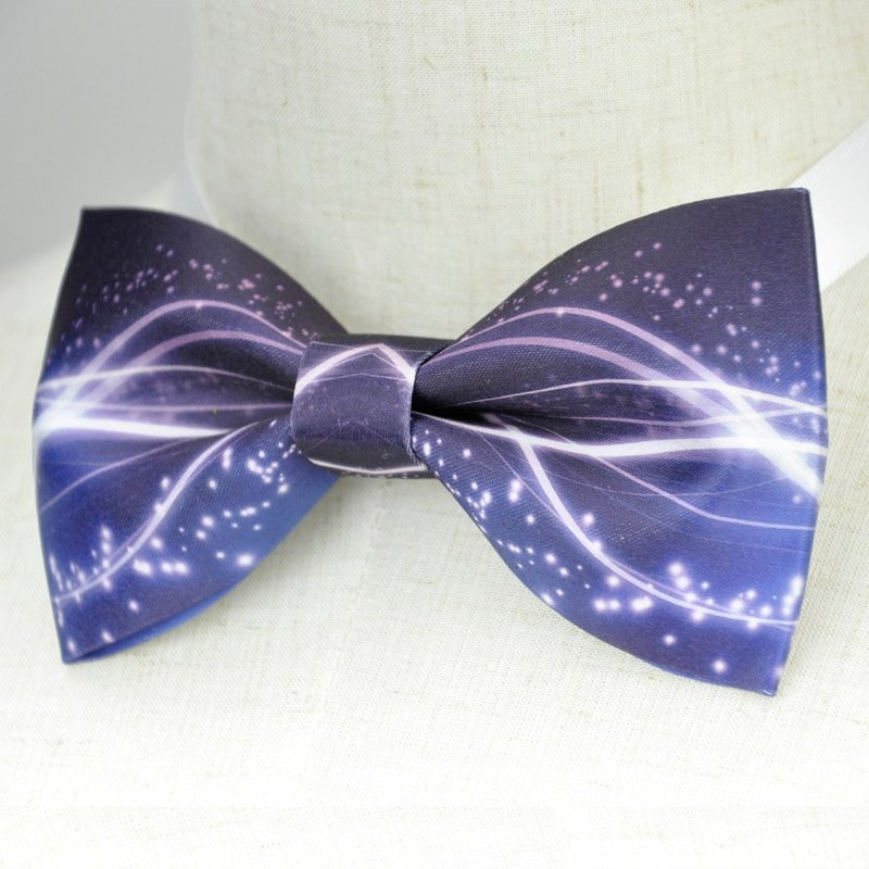 Blue interstellar bow tie, blue bow tie, gift, dream design studio