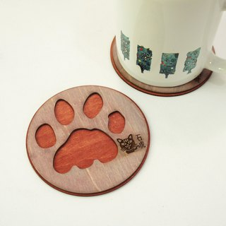 Animal footprints coaster - stone tiger