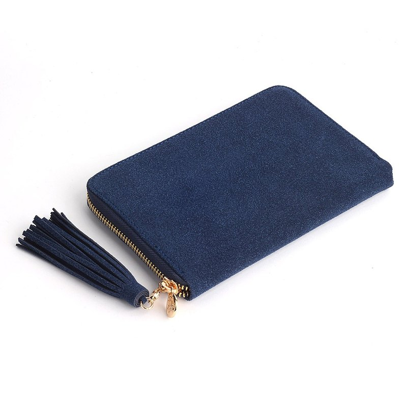 Korea Socharming-Avec Moi Wallet fringed purse -Navy