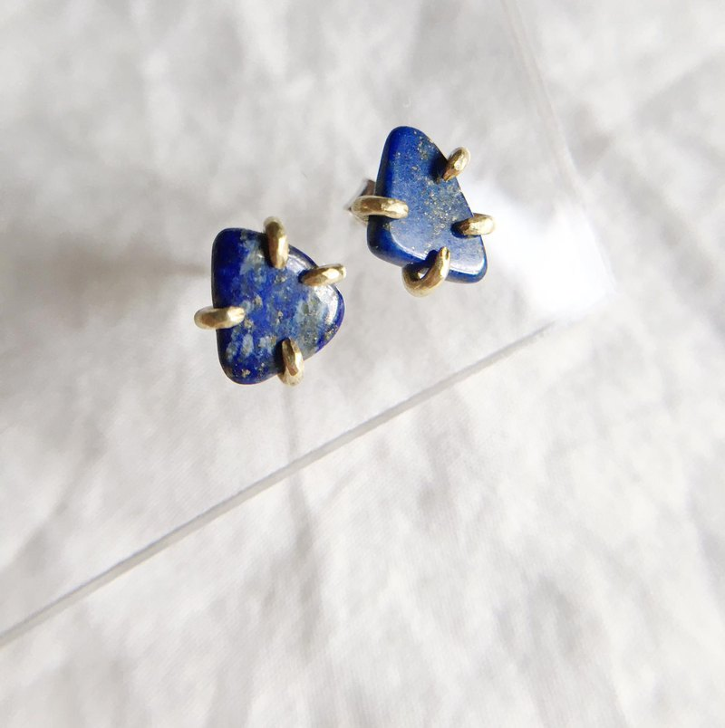 [Little Stone] Lapis Lazuli Brass with 925 Tremella Needle