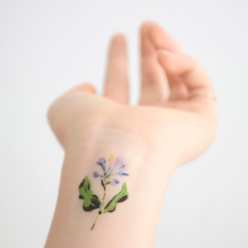 Mushroom temporary tattoo buy 3 get 1 Floral tattoo party wedding decoration