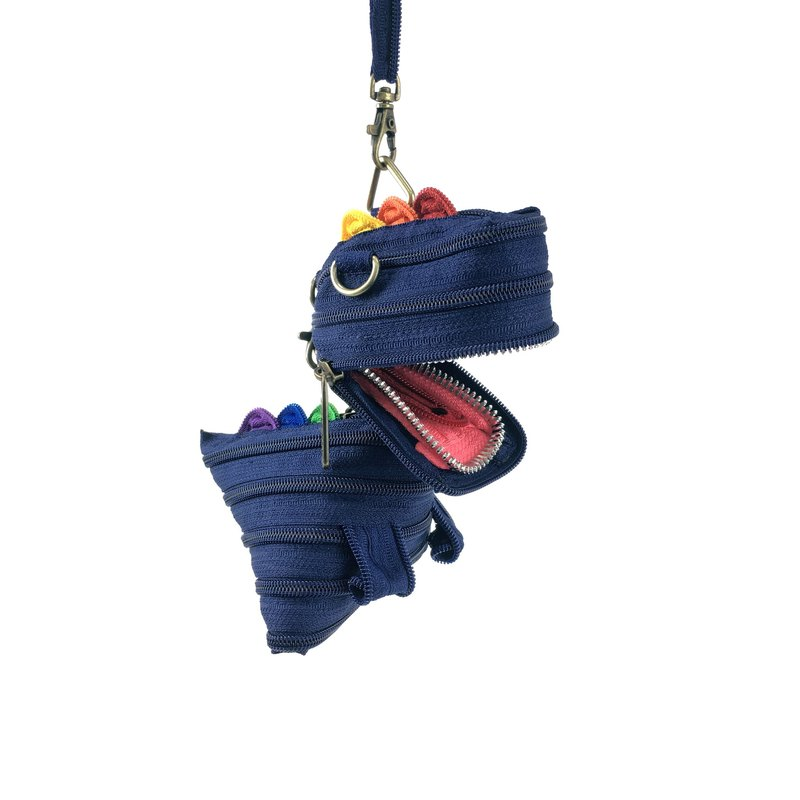 Rex Dinosaur bag (large) [navy blue / rainbow] (Limited)