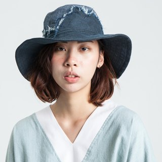 Alan Hu 2017 S/S Irregular Fabric Wide Hat