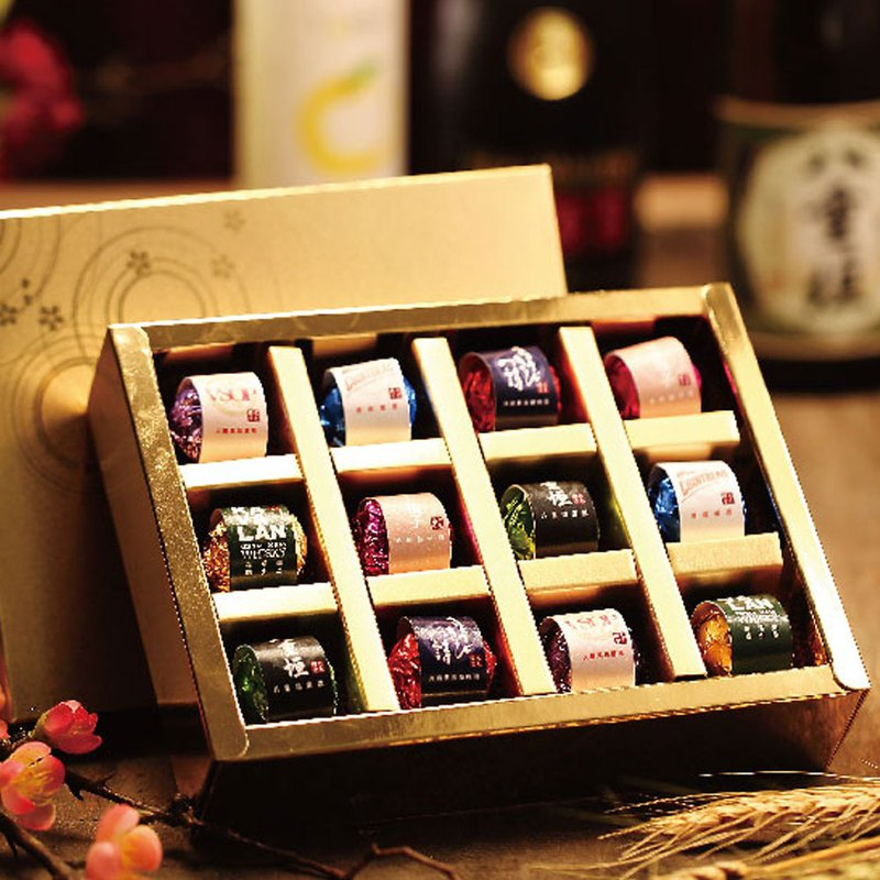 [Seven Seeing Sakura Hall] Yu Ming wine made six 馔 - wine candy chocolate (12 in)