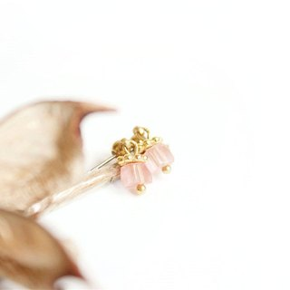 [Na UNA- excellent hand-made crystal sweetheart watermelon] small square - steel pin brass natural stones Customized