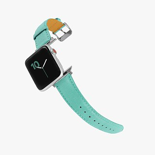 Multicolor Real Leather Macaron Dream Tiffany Blue Apple Watch Apple Watch Strap