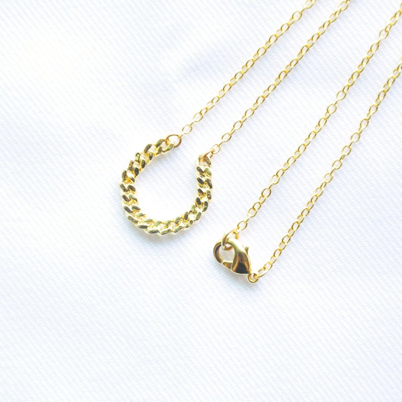 "∥Cheng Jewelry∥ Bochim Angel - ""Gold chain - Horseshoe"" Necklace"