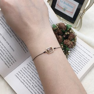 *Le Bonheur happy Line line*golden gems (zircon) Fang Bao / red gold bracelet jewelry hand-classical line ornate red line bracelet