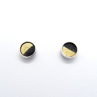 One centimeter ear round E-925 silver earrings