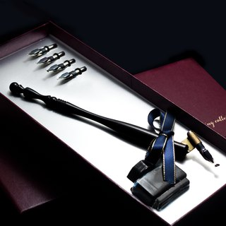 MISTER European retro rosewood water fountain pen gift box