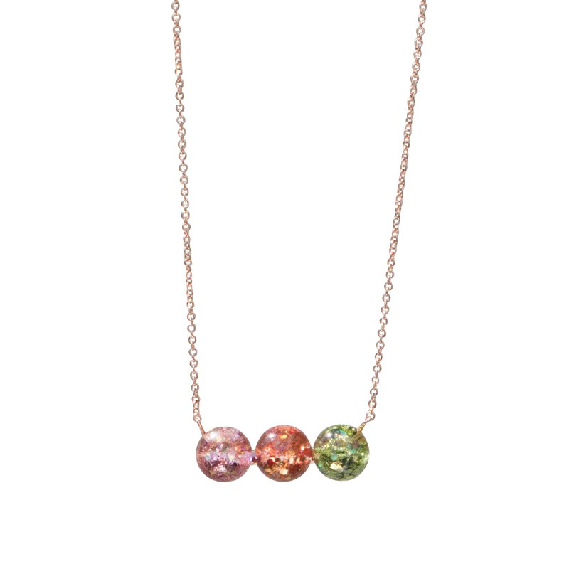 Chandelier Triple Snowball Necklace