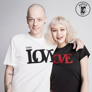 OUTER SPACE LOVE Valentine T (black + white)