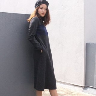 Autumn and winter wool dress / winter dress / wool dress / woman dress E 51D