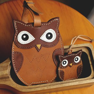 Owl handmade leather ID card / leisure card / ID card holder