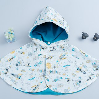 Double-sided cloak - Cosmic travel hand made non-toxic jacket baby children's clothing