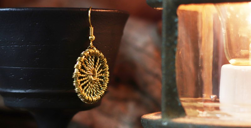 Woven Earrings - (Brass) - Wire Thickness 0.6mm