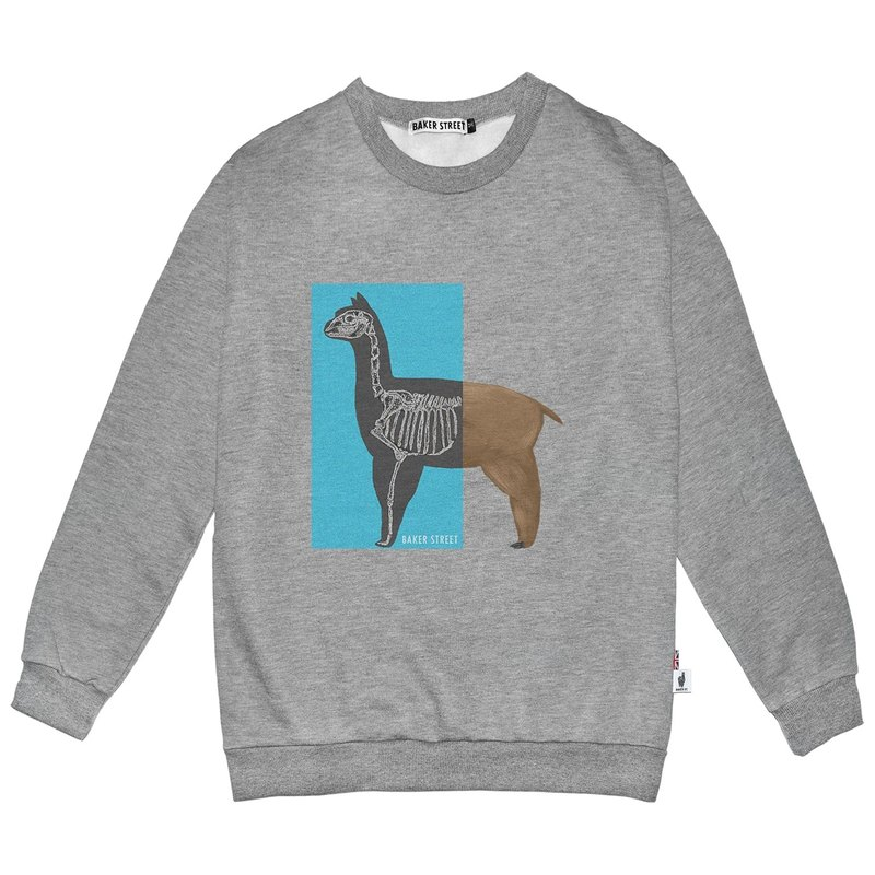 British Fashion Brand -Baker Street- X-ray Alpaca Printed Sweatshirt