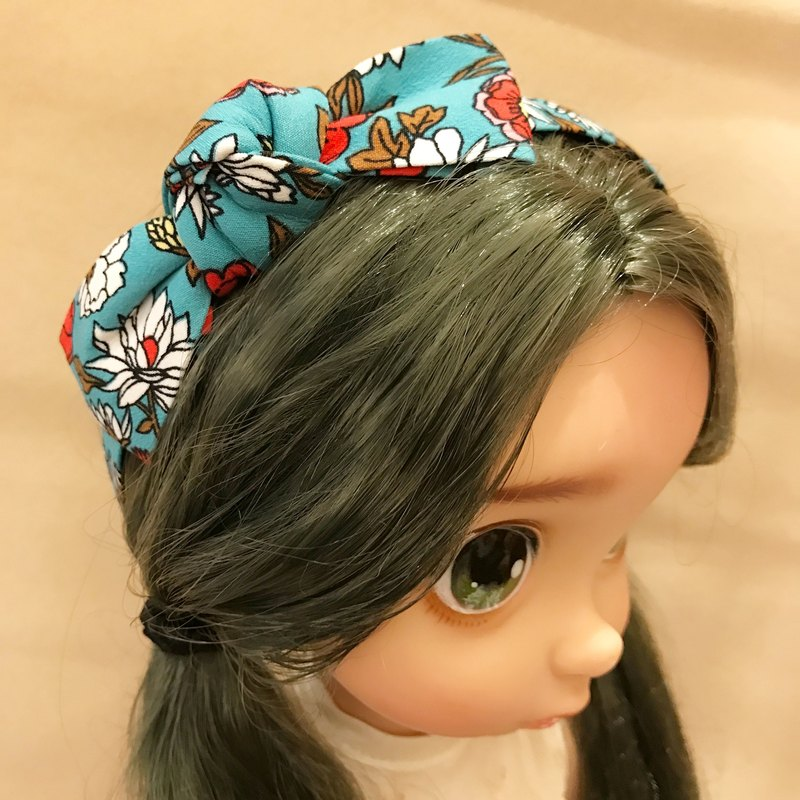 Make your own flowers - hair bands (ocean blue)