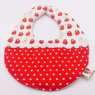 Little Fuxing Red Six-Sweater Bibs Saliva Towel Design Moon Festival