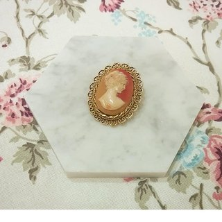 Lace oval plastic wall female embossed pin