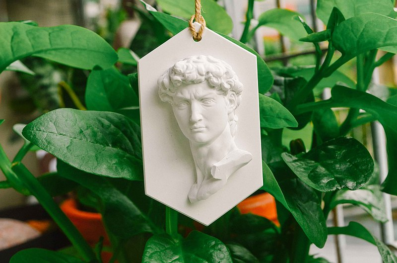 David diffused stone tag classical art museum birthday gift summer exchange gift fragrance