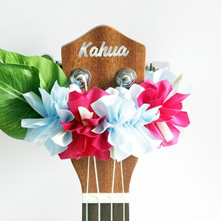 ribbon lei for ukulele (Bougainvillea bp) / ukulele strap / ukulele ribbon /