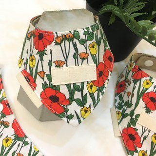 Mao Kid Triangle Scarf - Flowers are open