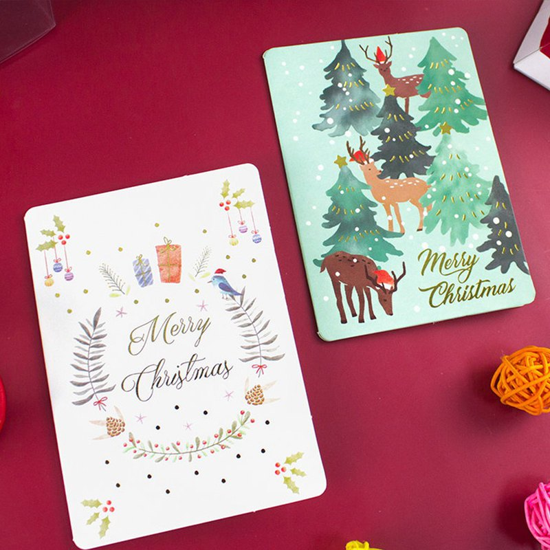 Christmas card / blessing thank you greeting card / creative cute universal card (01-04)