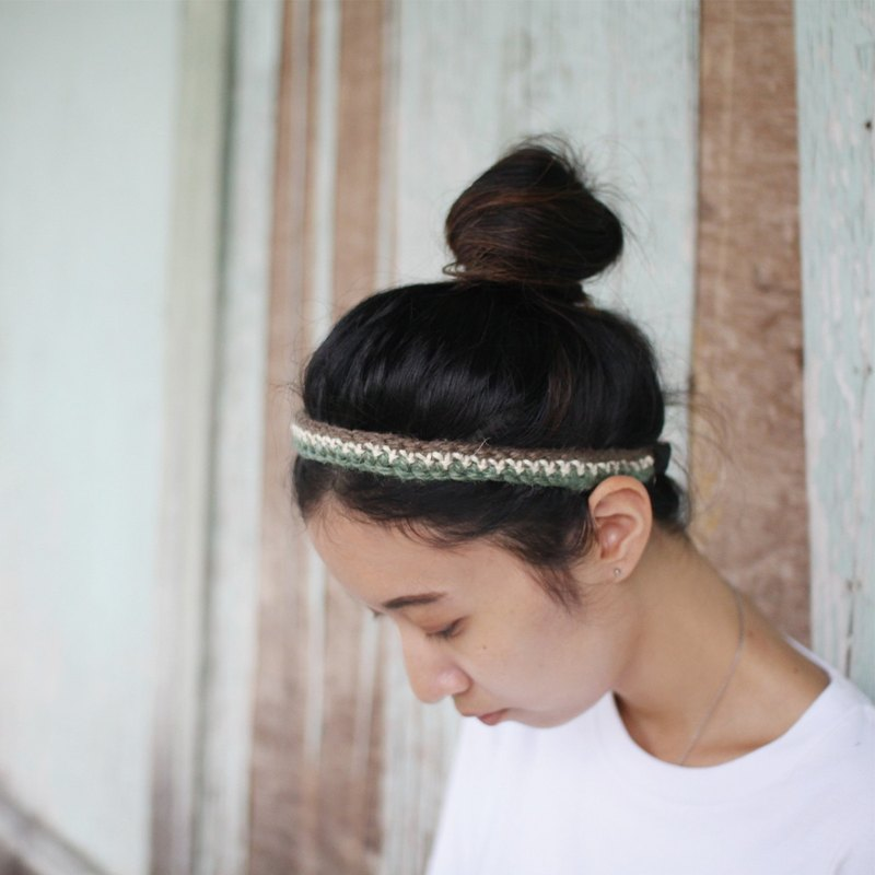 City Green Handmade Woven Hair Band