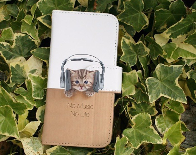 【All models supported】 Free shipping 【Handbook type】 Cats No Music No Life iPhone 8 / iPhone 8 Plus / iPhoneX
