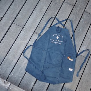 """BL-Apron"" all-weather leather aprons woodworking metalworking cooking pottery makeup navy blue aprons"