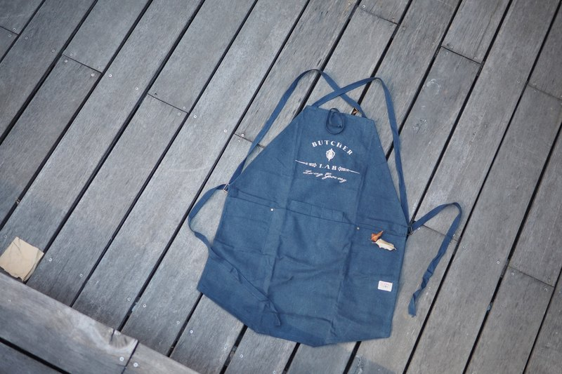 BL-Apron all-weather apron leather woodworking metalworking cooking makeup pottery apron navy blue