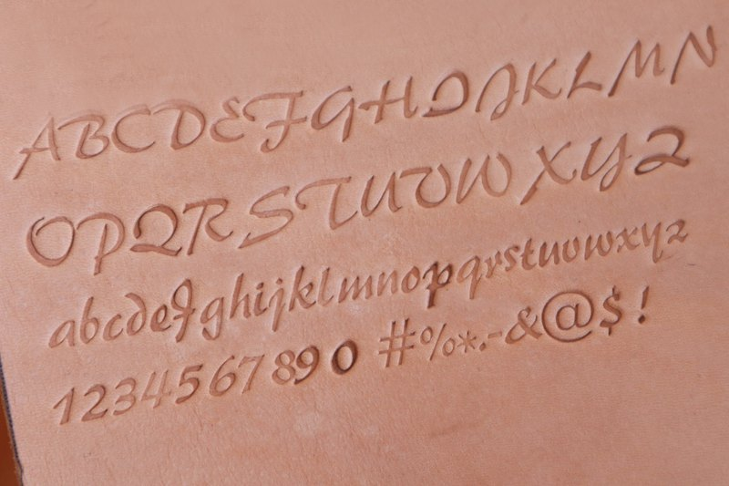 Hot stamping, branding, customizing English letters, numbers, symbols