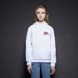 British Fashion Brand [Baker Street] Little Stamp:Driving Alpaca Printed Hoodie