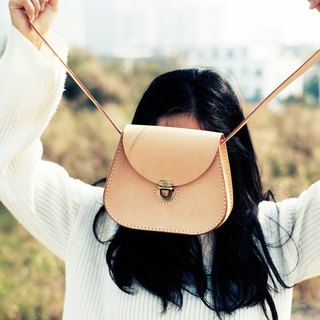 [tangent] pure hand-sewn tanned leather leather saddle bag lady cute small shoulder bag