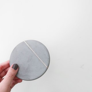 SLIVER LINING Absorbent Coaster / Trinket dish / Jewelry dish
