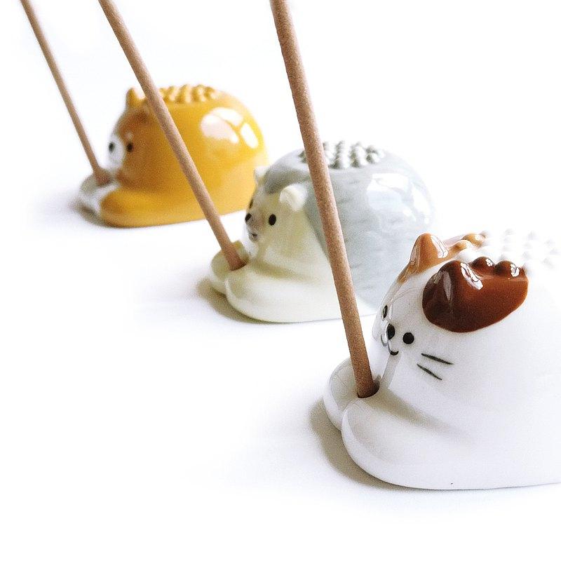 日本Decole 兩用燃香瓷座