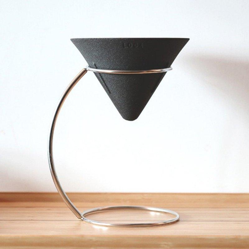 LOCA咖啡陶瓷濾杯 V形L號 手沖架套組