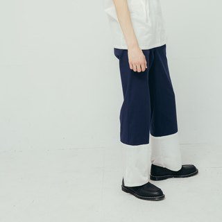 8 lie down_Stitching trousers
