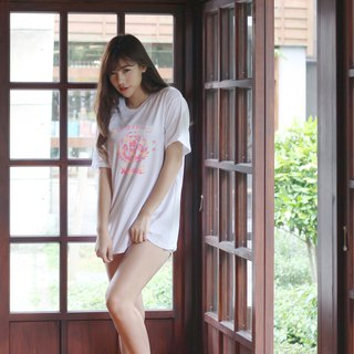 Pinkoi limited pink long version wide T