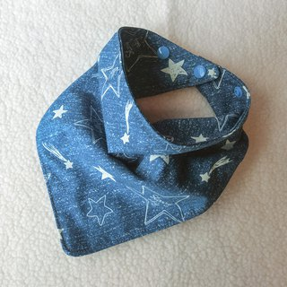 Hand Painted Starry - Triangle Mouth Towel / Scarf