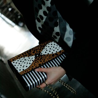clach bag Super Fly brown dots borders stripes 3way
