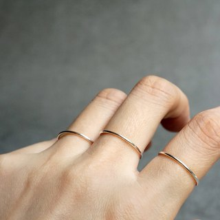 Plain silver thin ring smooth ring VISHI time BASICS series 999 foot silver joint female wild simple