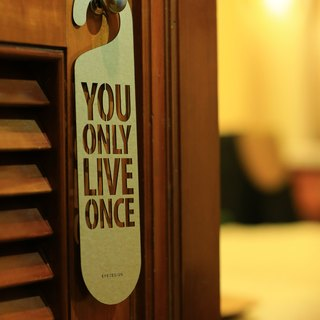 "[EyeDesign see design] a word door hanging ""YOU ONLY LIVE ONCE"" D27"