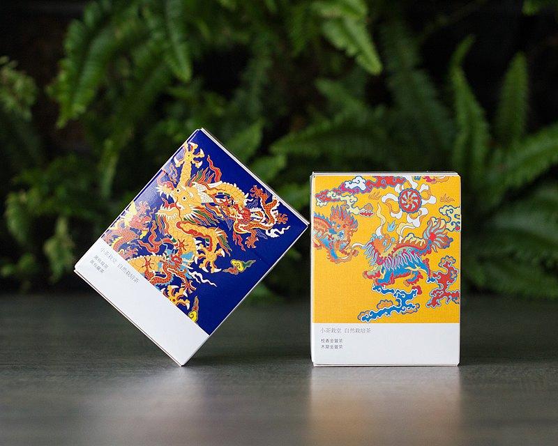 【經典龍鳳系列】黑烏龍茶+桂香金萱茶 輕巧盒2入