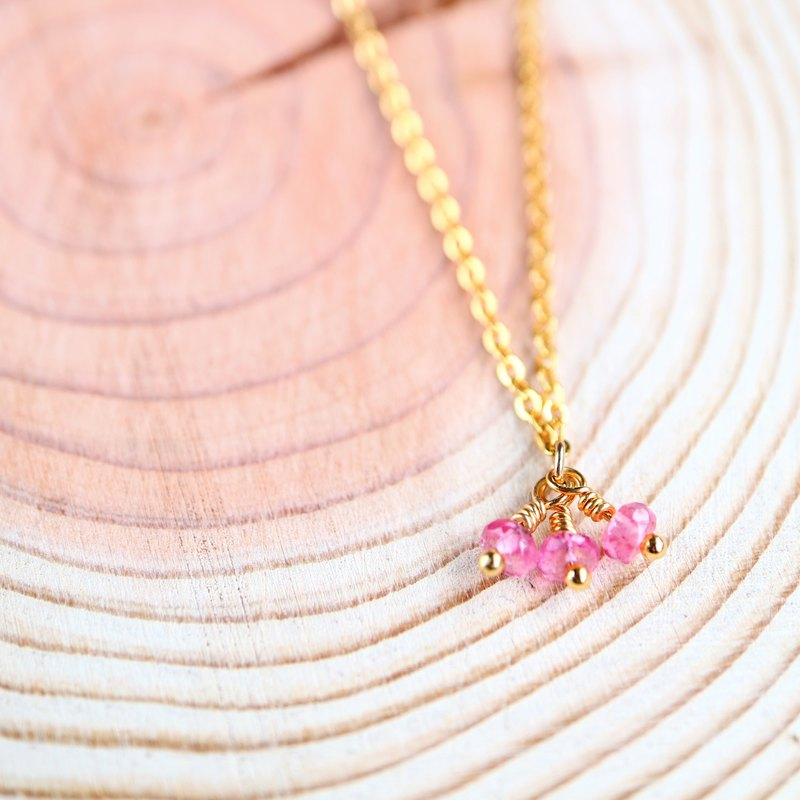 Pink tourmaline necklace | Love