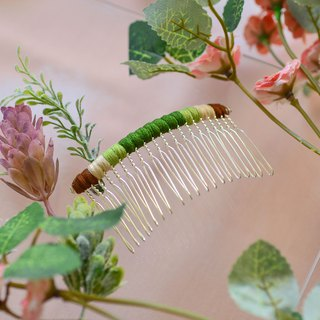 Makeup plate braided fork / hairpin / hair comb - earth