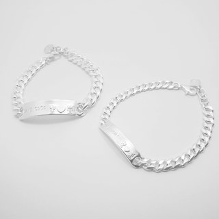 Z41+Z42 925 sterling silver couple bracelet. Constellation symbol. Customized English alphanumeric.